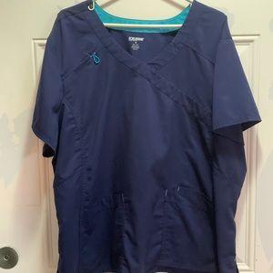Plus size scrubs set